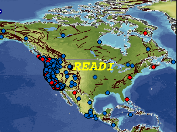 Real-time Earthquake Analysis for Disaster Mitigation Network (READI) logo